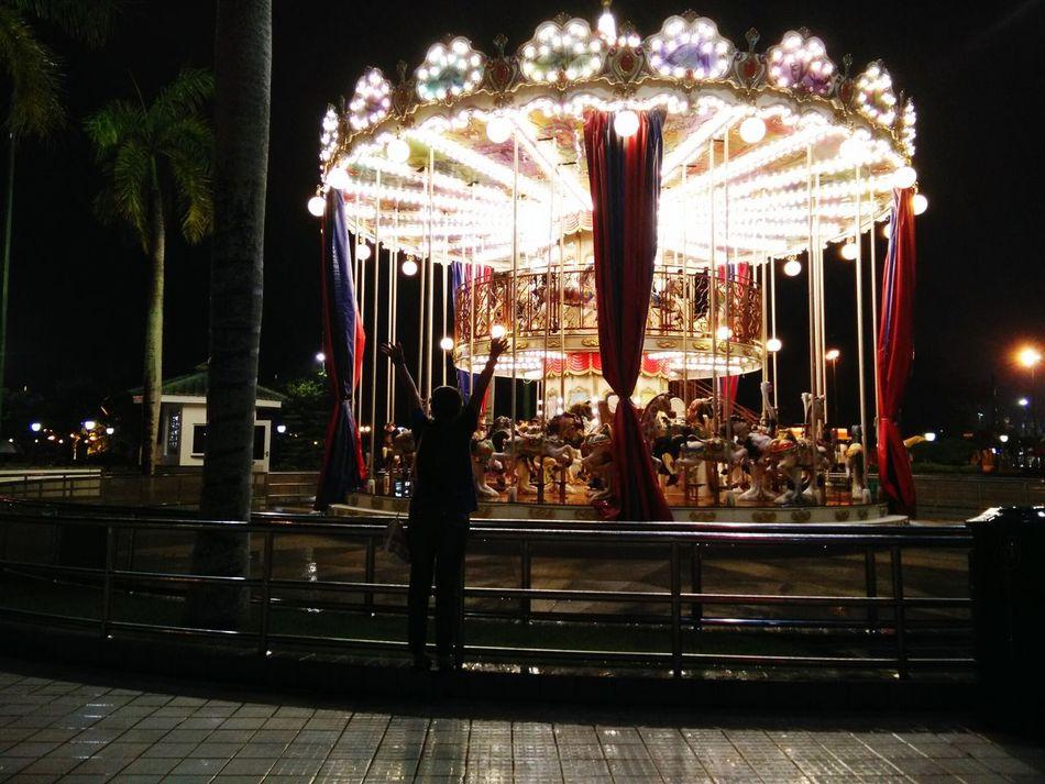 Brunei Brunei Darussalam Jerudong Park Night Arts Culture And Entertainment Amusement Park Illuminated Amusement Park Ride Merry Go Round Night Lights Sky CarouselNo People Travel Photography Travel Outdoors Ferris Wheel Art Is Everywhere EyeEmNewHere