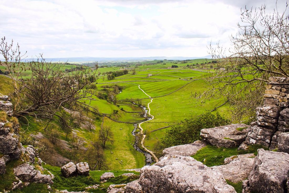 Malham Malham Cove Yorkshire Yorkshire Dales Dales Countryside View Scenic Scenic View Walking Hiking Climbing Trees Rocks River Dry Stone Walls Landscape
