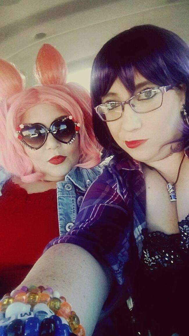 My best friend and I as Hipster Hotaru Tomoe (me) and Punk ChibiUsa (him). Sailor Moon Cosplay Plussize Plussizecosplay Sailormooncosplay Hotarutomoe ChibiUsa First Eyeem Photo