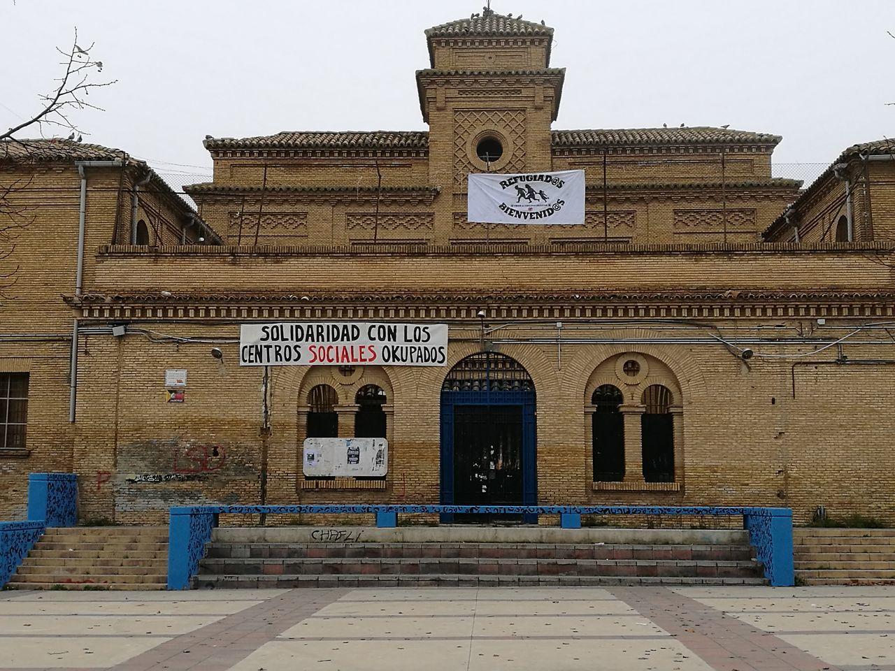 Building Exterior Façade Old Prison city Zaragoza