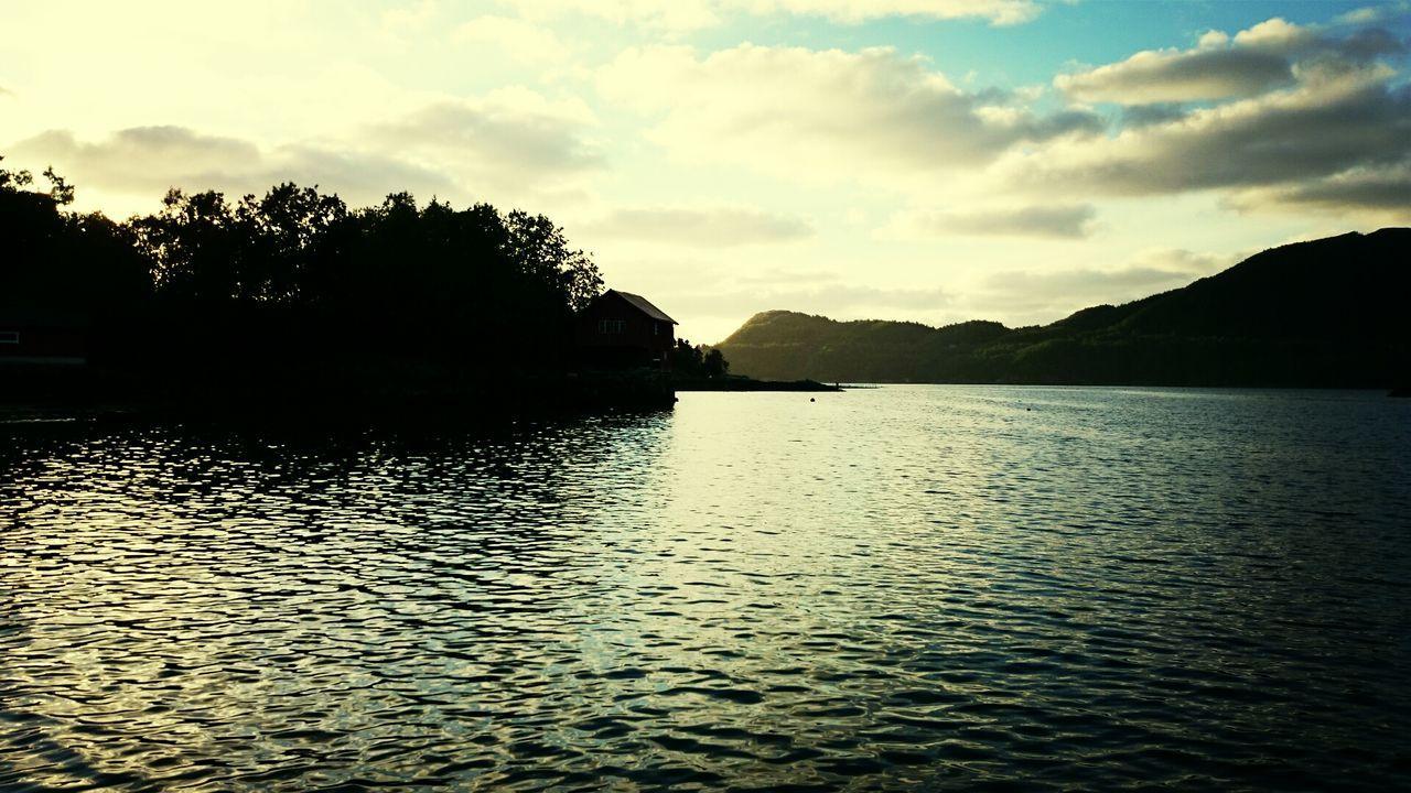 Sunset Norway Fjord Eide På Nordmøre