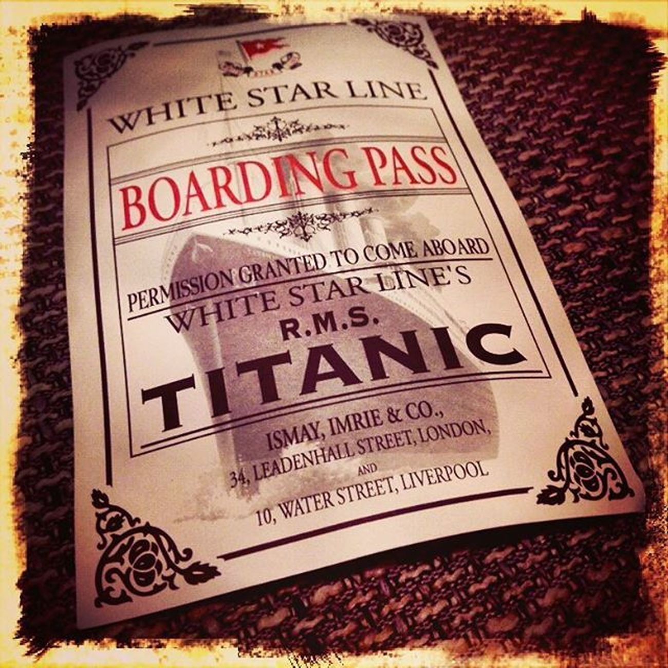 Titanic Titanicexhibition Boardingpass Whitestarline Eisberg Iceberg Lifeboat Shipofdreams Unsinkable Atlanticocean History 1912 Terrible Ship Linz Austria Tabakfabrik