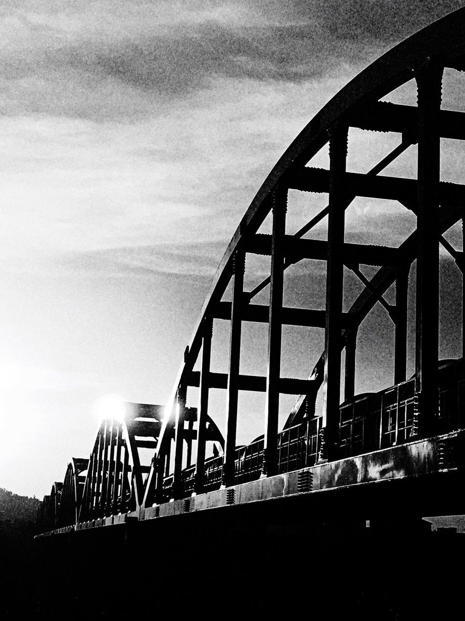 Bridge。 EyeEm Gallery EyeEm Best Shots - Black + White 2016 EyeEm Awards Everything In Its Place EyeEmBestPics How Do We Build The World? The Tourist Taking Photos Bridge Sunshine Clouds And Sky Sanxia