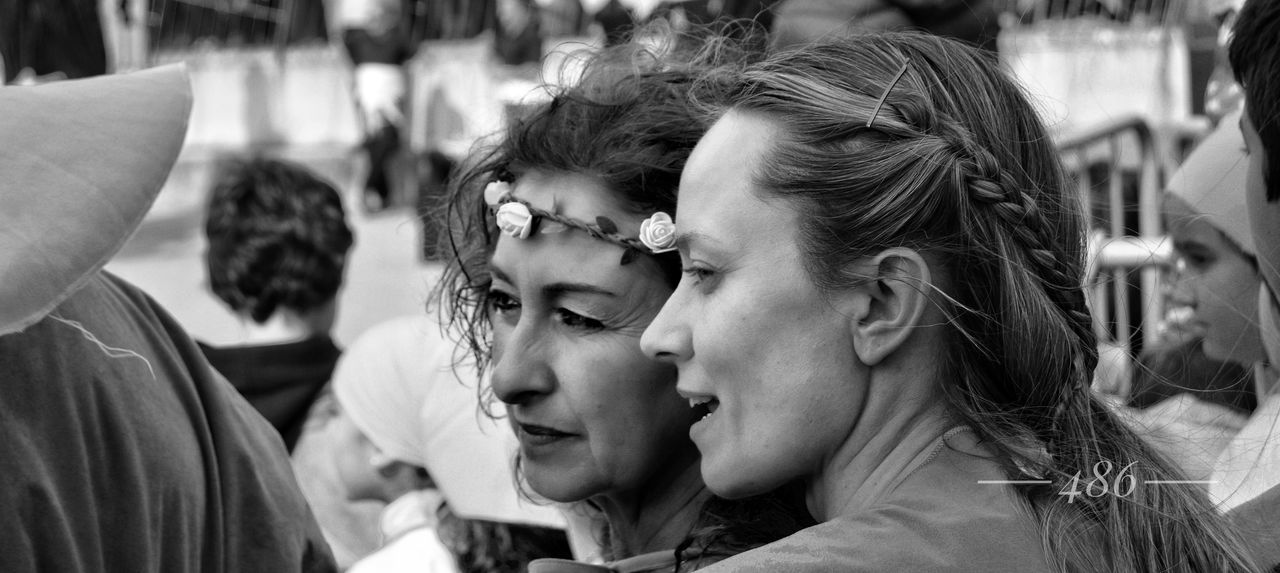 cuentamelo... Two People Togetherness Love Day People Outdoors Adult Headshot Only Women Real People Women Adults Only Close-up Young Adult Young Women Friendship Bride Fashion Beautiful Woman Beautiful People Well-dressed Street Beauty Portrait Blackandwhite