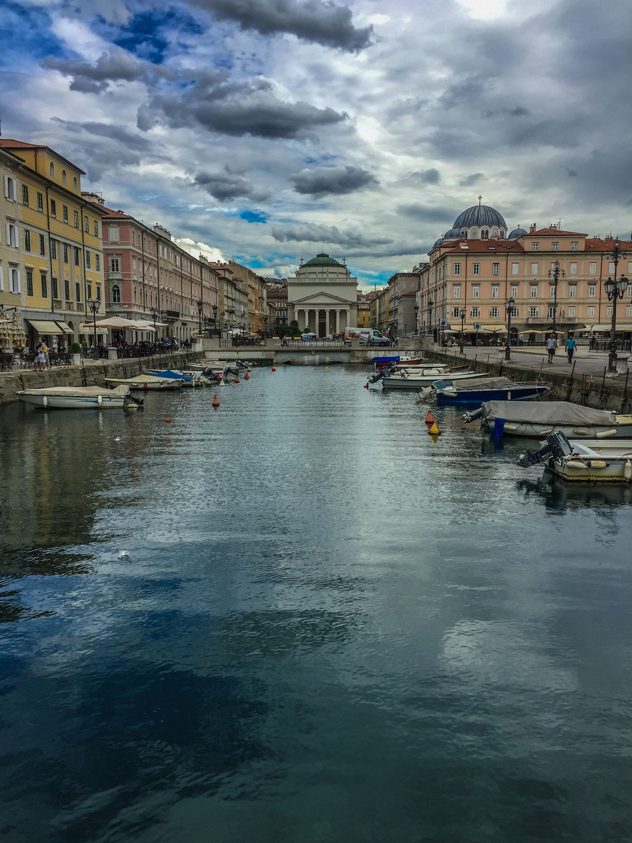 Architecture City Cloud - Sky Grand Canal Italy Outdoors Reflection Sky Stormy Travel Destinations Trieste Trieste Grand Canal Water