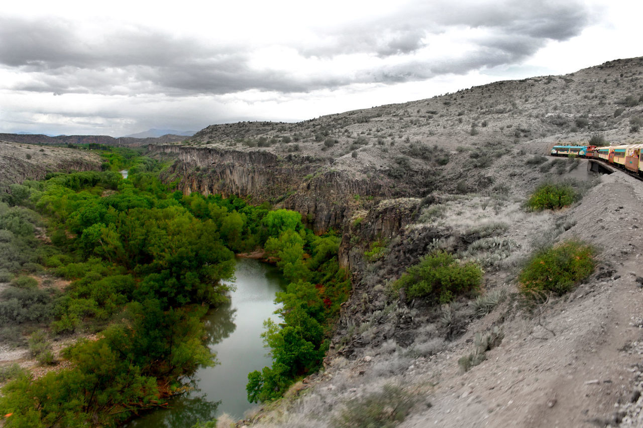Water River Verde River Arizona Lush Foliage Beauty In Nature Green Color Landscape Railroad Train Cliffside Verde Canyon Railroad The Great Outdoors With Adobe