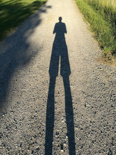 Shadow Focus On Shadow Long Shadow - Shadow Sunlight Real People Day Men Silhouette One Person Lifestyles
