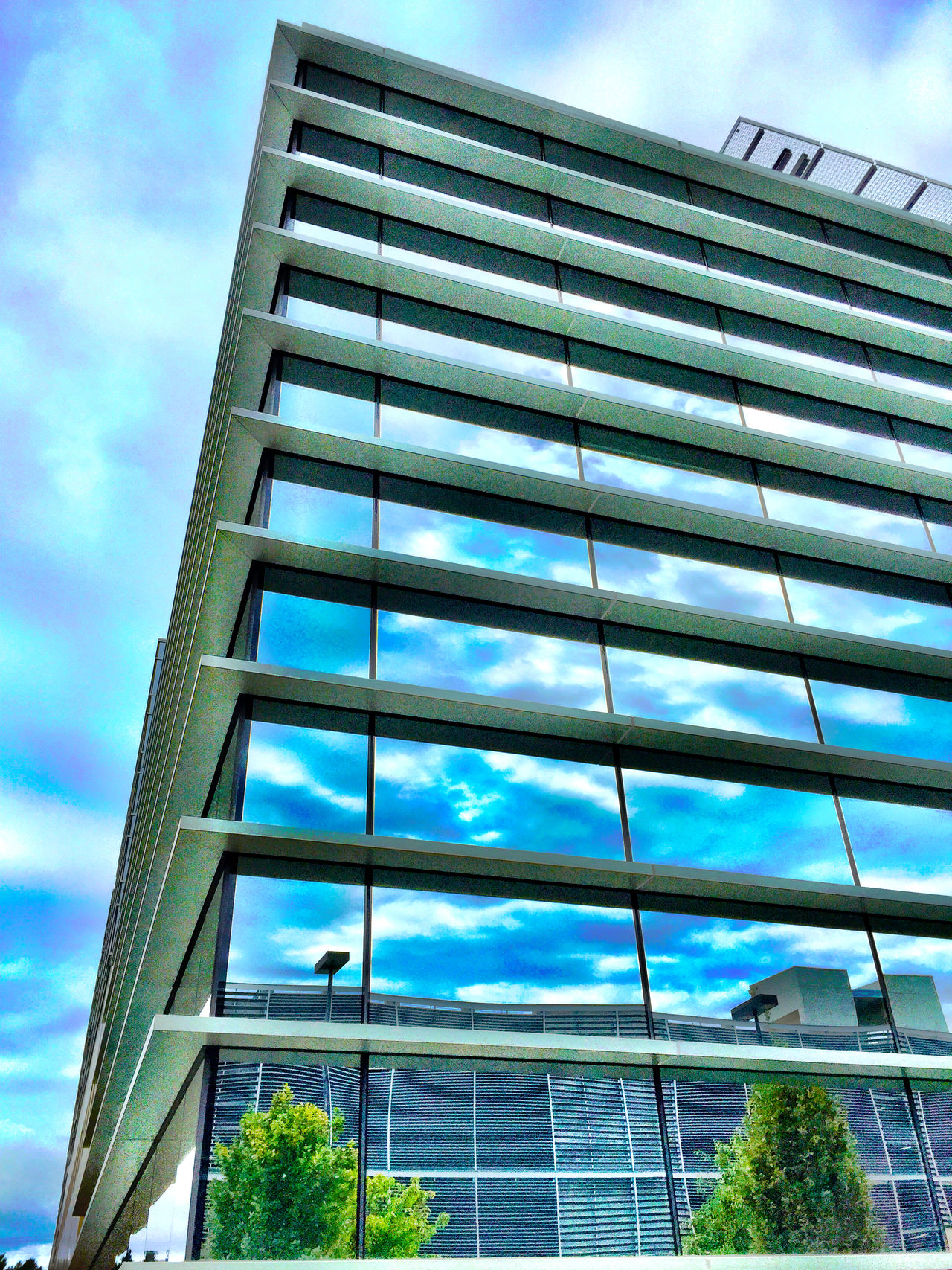 """""""Corner Office Reflections"""" Gorgeous glass architecture at John Muir Medical Center reflecting clouds, sky and adjacent buildings. Corneroffice Architecture_collection Architecture Glassreflections Glassarchitecture Glass Urban Sky"""