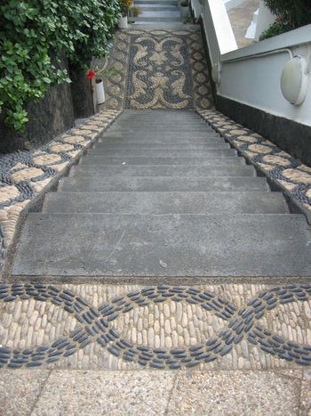 Downstairs EyeEm Best Shots EyeEm Gallery Lanzarote Lanzarote Island Mosaic Paving Stone Sidewalk Stairs Stairway Steps Stone Mosaic Stone Stairs Best Of Stairways