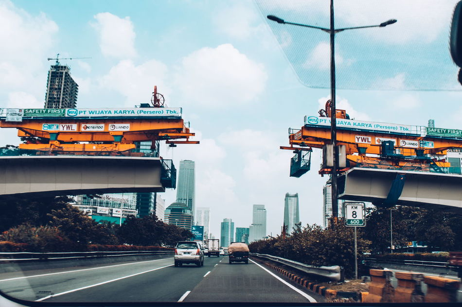 City Architecture Car Transportation Urban Skyline Outdoors Freshness Landscapes Streetphotography Street Modern Business Finance And Industry Cloud - Sky First Eyeem Photo EyeEm Indonesia Softness Growth Growing Growing Up Construction