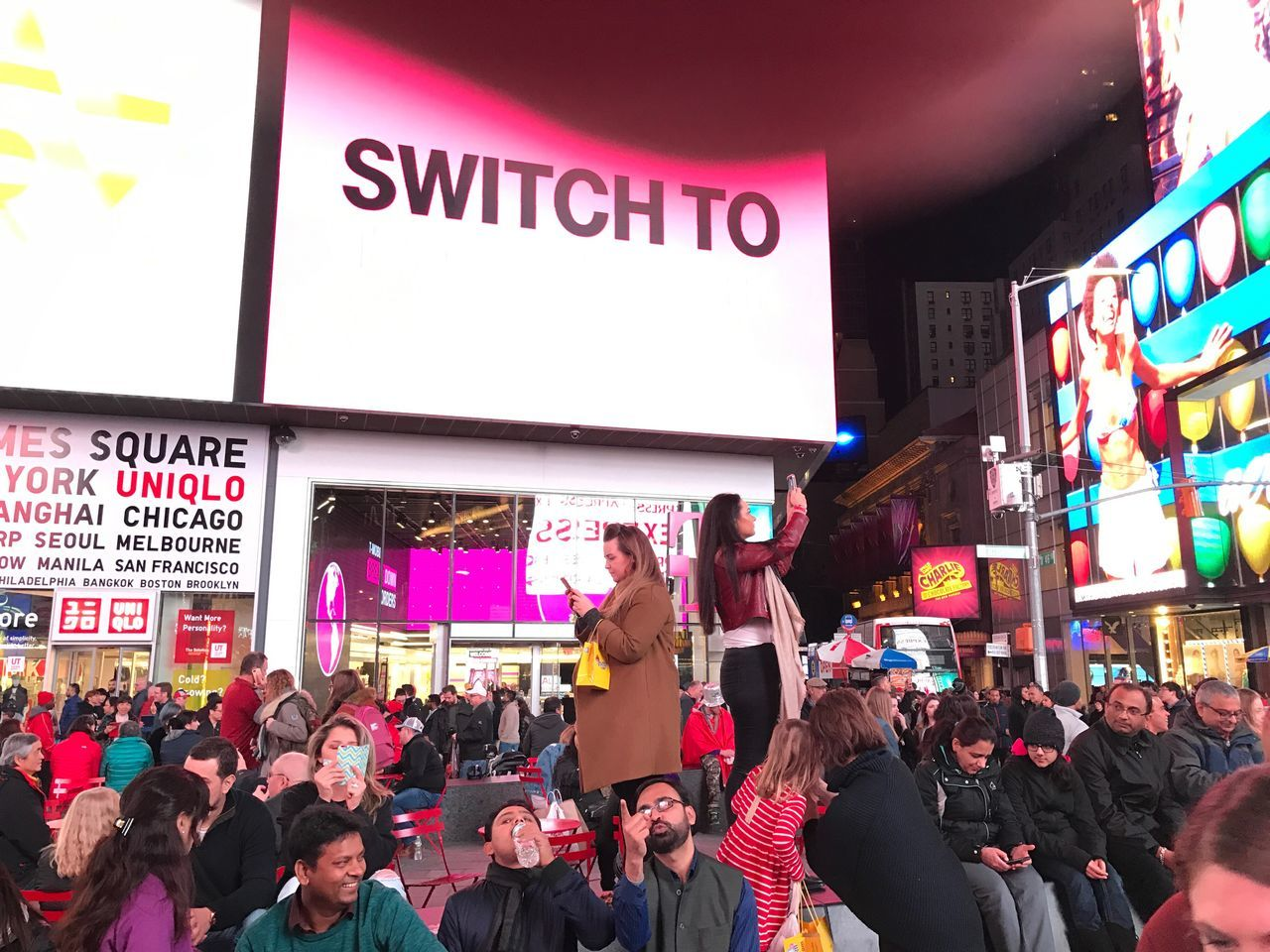 Large Group Of People Crowd Communication Text Real People People Adults Only Outdoors Adult Day Times square