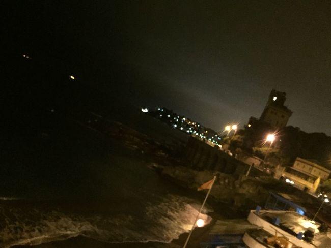 Castle Sea Night
