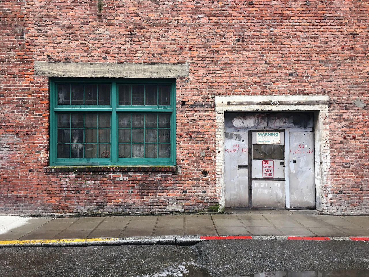 old walls. walking through pioneer square to catch a boat ride home. Seattle