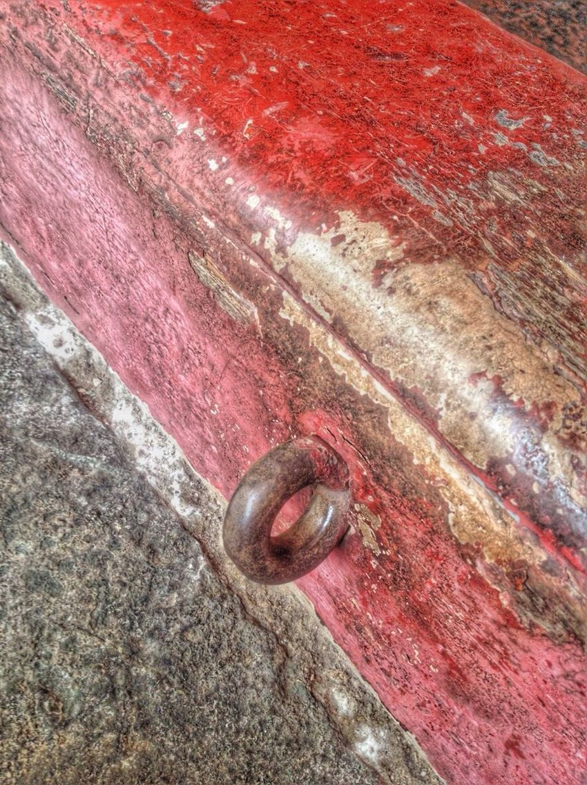 At The Door Thaitemple Antique Thaiarchitecture Red Close-up Strength Rusty Metal Textured  No People Outdoors Day Iron