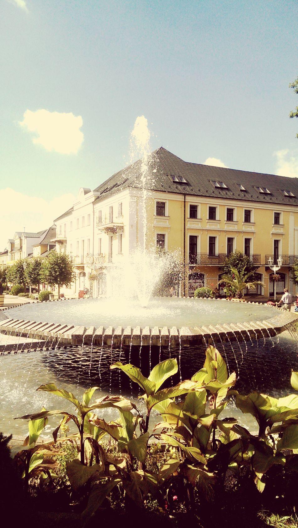 Strolling On A Hot Day in Franzikovy Lazne Czech Republic Fountain
