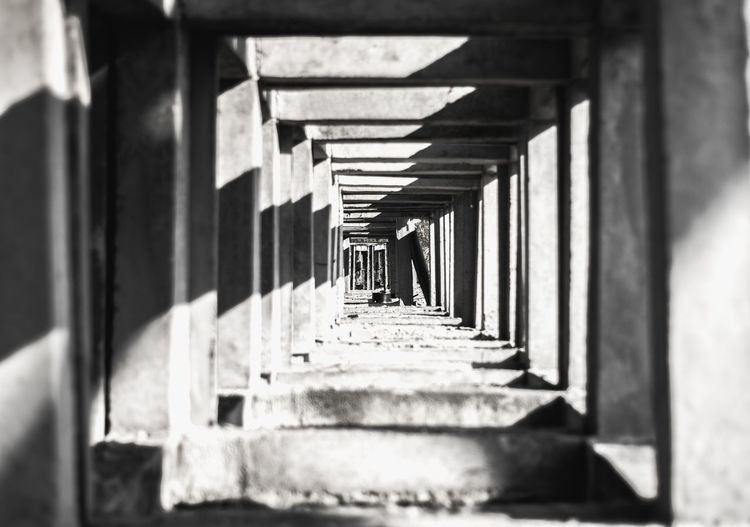 Shadow Sunlight Indoors  Architecture Architectural Column In A Row Built Structure History No People Day