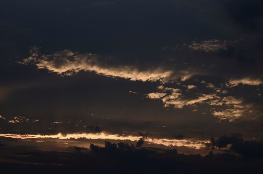 everyone has darkside too Beauty In Nature Cloud - Sky Dramatic Sky Getting Dark Here My Point Of View Scenics Sky Sunset