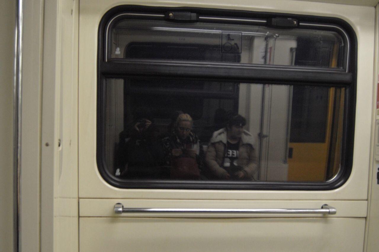 The yellow door. Reflection Underground Urban Geometry Urban Technology Metro Yellow Dimmedlight