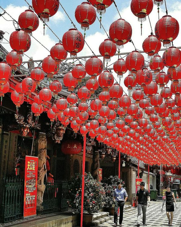 Lanterns Thian Hock Keng Temple Chinese Hokkien National Monument 1839