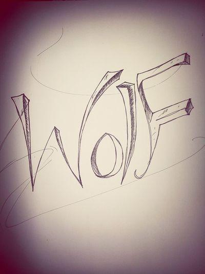 wolf hand drawing type Myartwork Handdrawntype Type Art