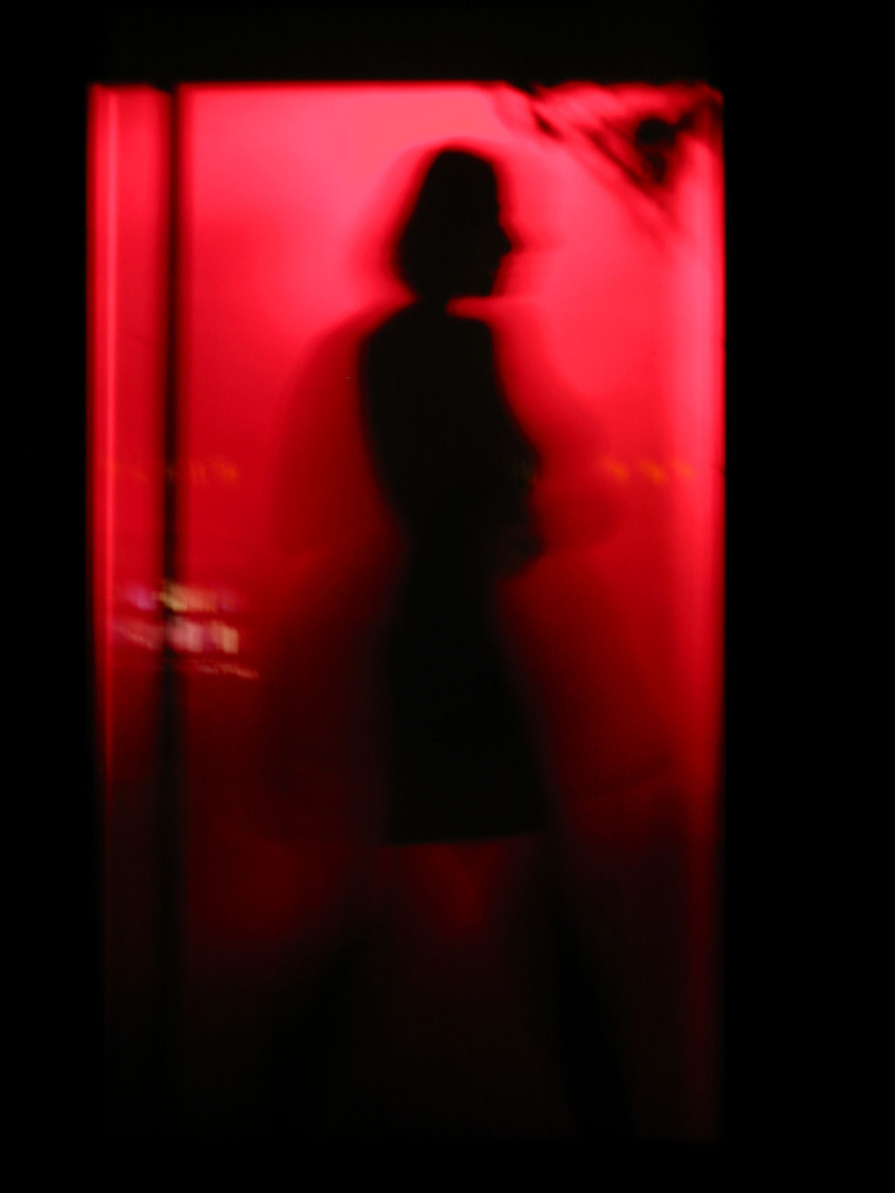 Adult Adults Only Dancer Dancing Entertainment Night Night Club Nightlife One Person Red Red Light Red Light District Silhouette Standing Table Dance Unrecognizable Person Woman