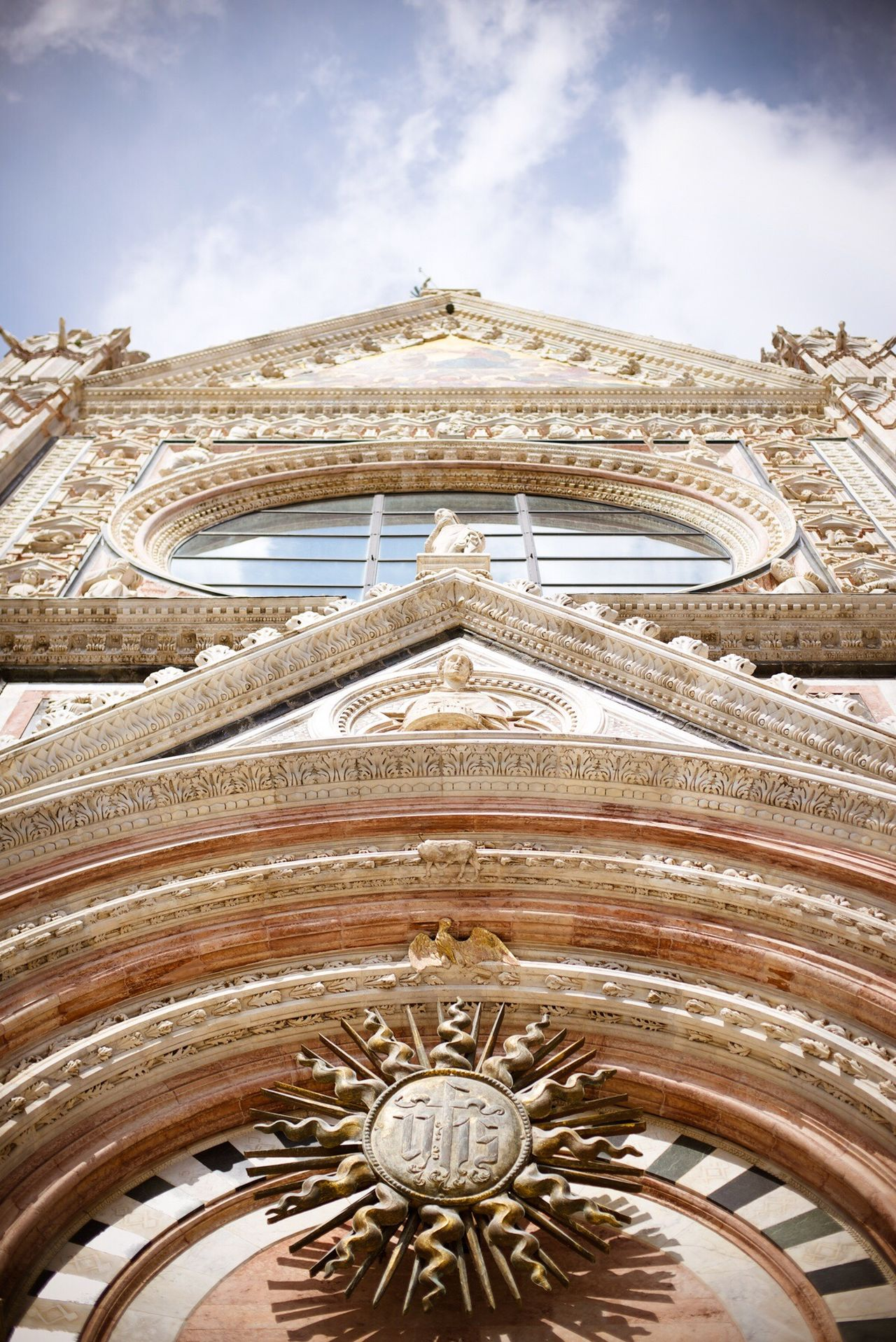 Siena Cathedral, Tuscany, Italy Low Angle View Architecture Built Structure Building Exterior Religion Sky EyeEm Best Shots Fine Art Photography Composition Architecture Travel Travel Destinations Italia Church Bestoftheday
