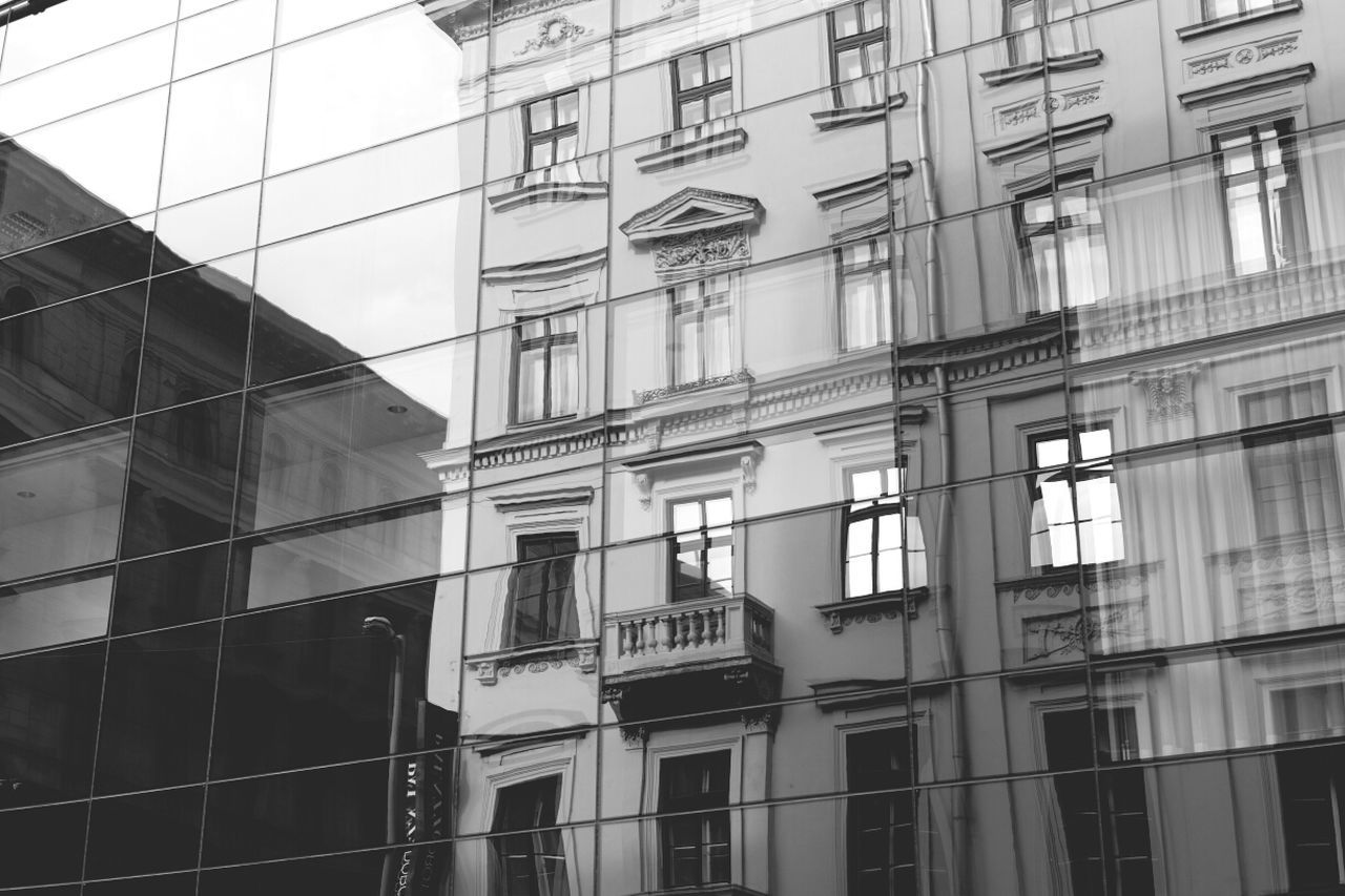 Architecture Reflection Architecture_bw Urban Reflections