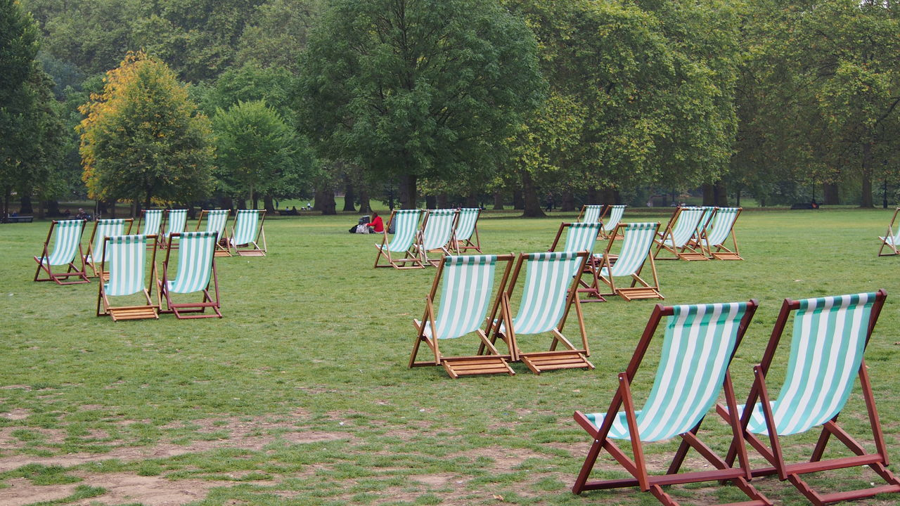 Beachchair Blue Green Greenpark London Outdoor Photography Outdoors Park Relax
