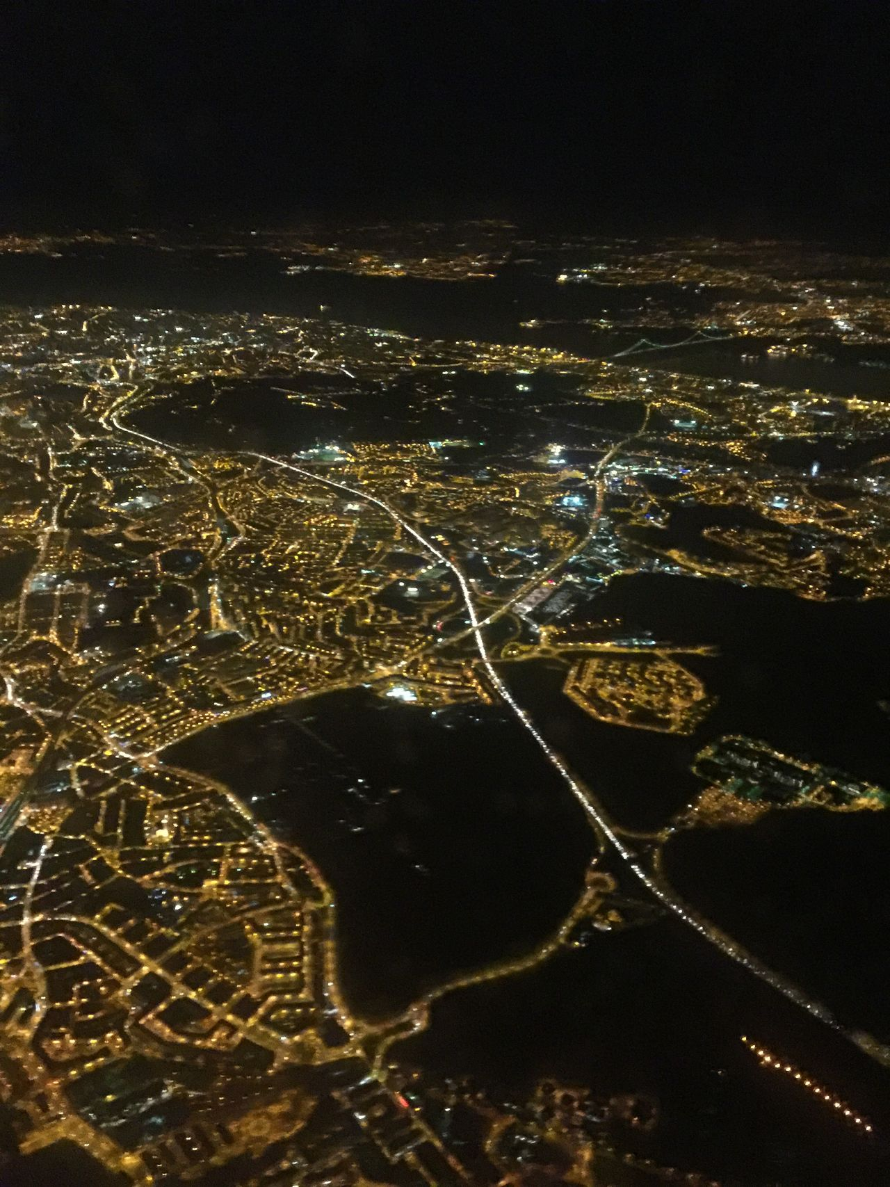 Nightphotography Night Lights Lisbon Coming Into Land Lisbon At Night Landscapes With WhiteWall