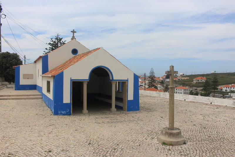Cloud - Sky Architecture Cross Day No People Building Exterior Outdoors Sky Sintra Portugal Colares Church Spirituality