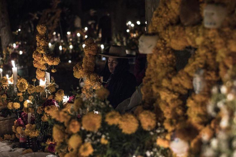 DIA DE MUERTOS Dia De Muertos México Mexico Close-up Illuminated Men Michoacan Night One Person Outdoors People Real People Tree