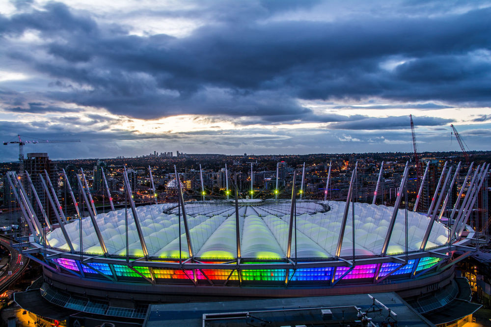 Bcplace Illuminated Dramatic Sky Sky Cityscape Vancouver Vancouver BC Vancouverisawesome Vancityhype Vancouverofficial Wide Shot Multi Colored Cloudy City Cityscape Sky Cloud - Sky Nautical Vessel Water Building Exterior Travel Destinations Cloudscape Illuminated Dramatic Sky Storm Cloud First Eyeem Photo
