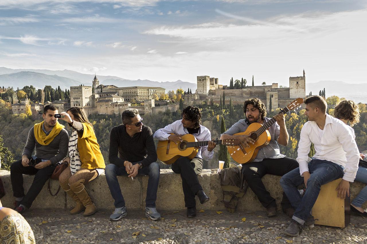 Beautiful stock photos of gitarre, young adult, friendship, young men, music
