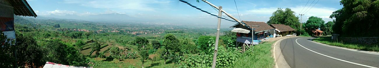 Panoramic view in Cilendong, Cipari, Majalaya, Jawa Barat - Indonesia. Taken with Motorola Moto G on 11/1/2015. EyeEm Indonesia Nature EyeEm Nature Lover Majalaya Mountain Panoramic View