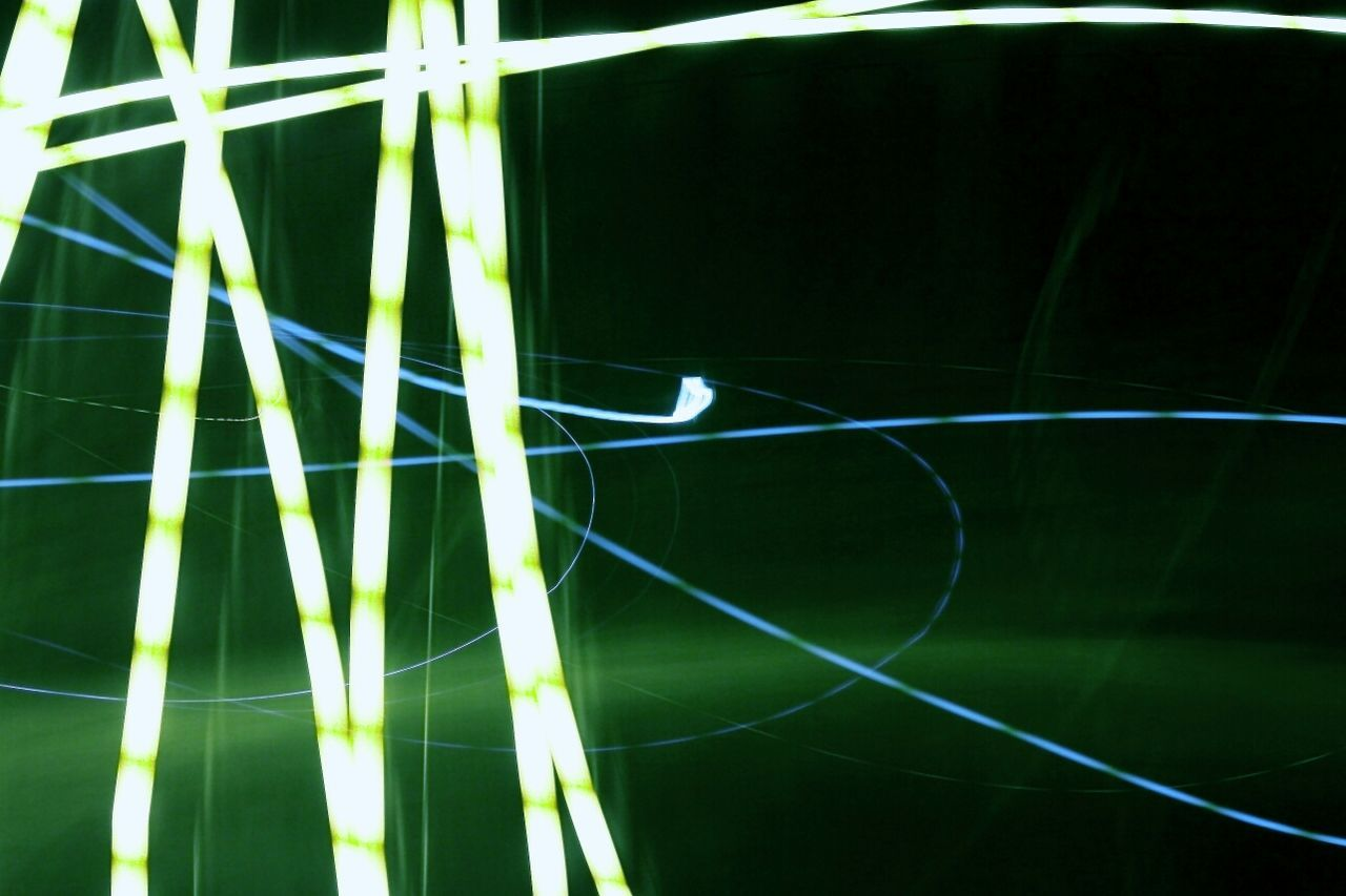 Abstract Image Of Green Light Painting