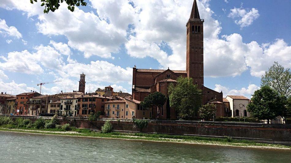 Verona Italy Beautiful Adige Sunny Day Church EyeEm Best Shots