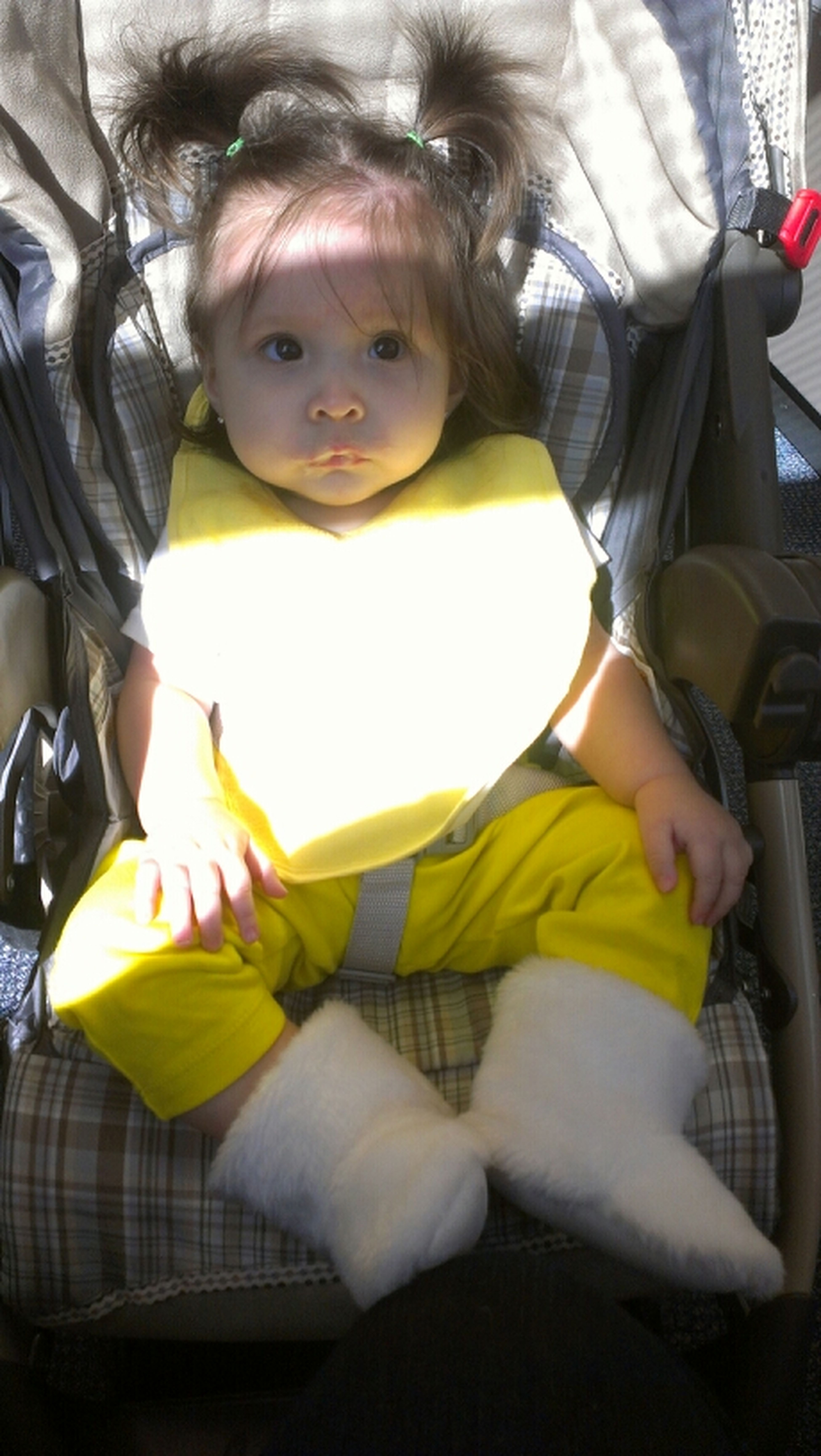 My PoohBear At Doctor Office With Banana On Her Face!!