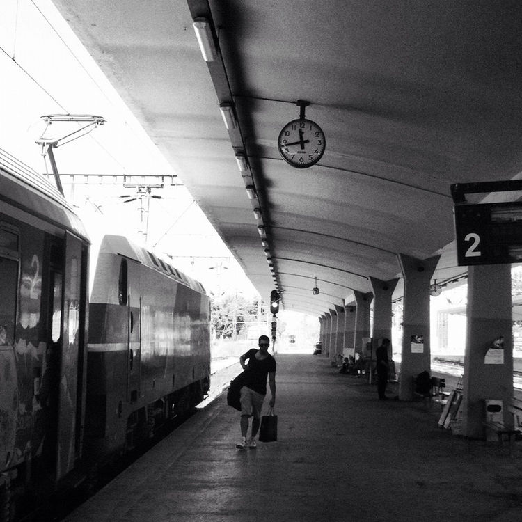 blackandwhite at Ν.Σιδηροδρομικός Σταθμός / Ν.Railway Station by Stefanos Biniaris