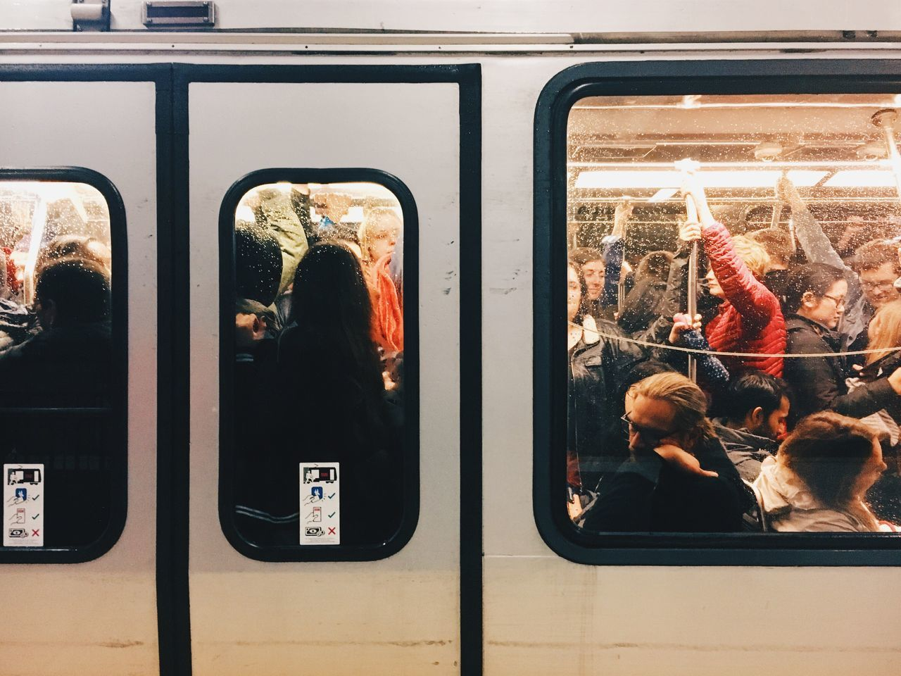 Transportation Mode Of Transport Window Real People Passenger Public Transportation Men Day Indoors  One Person MUNI Crowded Women's March Womensmarch San Francisco Adapted To The City