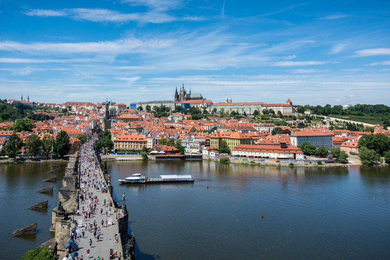Beautiful stock photos of prague, Architecture, Bridge, Building, Building Exterior