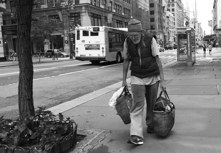 Busy in NYC Street Real People Full Length Outdoors Walking Transportation One Person