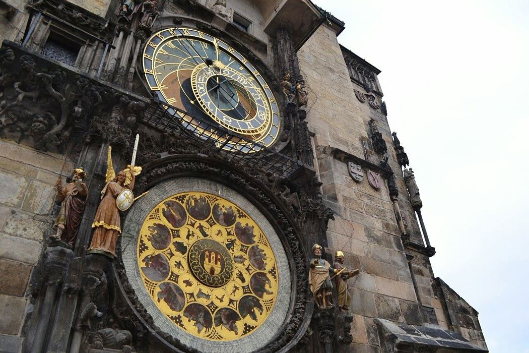 Praha2014 Clock Tower Square Clockporn Golden