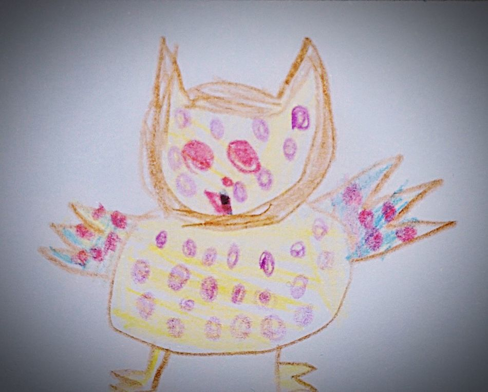 Drawing Owl Art Owl Eule My Daughter ♥ Amazing_birds Lovely ArtWork Kids Art Art Of Heart Little Artist Never Stop Dreaming Amimals Colorfull Animal Drawing