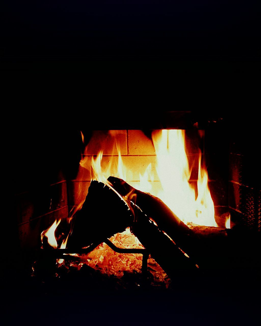 fire - natural phenomenon, flame, burning, heat - temperature, glowing, night, orange color, bonfire, no people, indoors, close-up