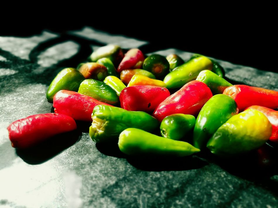 Chillis Close-up Black Background Vegetable Green Color Red Freshness Fruit Multi Colored Food Red Bell Pepper Healthy Eating First Eyeem Photo