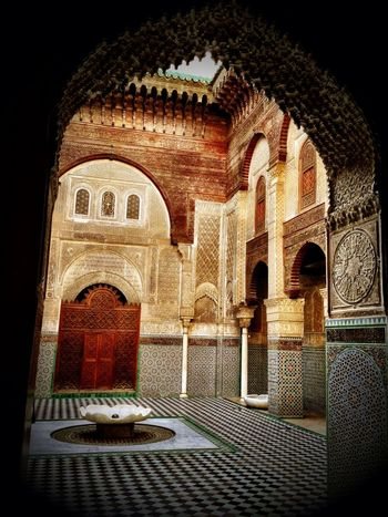 Court Architectural Feature Islam Islamic Architecture Fes Morocco Beautiful Travel Photography Streetphotography Medina