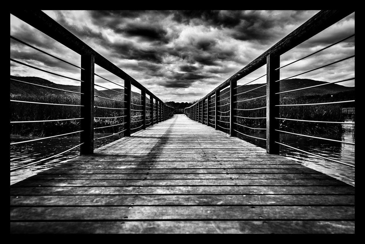 bridge - man made structure, the way forward, railing, connection, footbridge, built structure, cloud - sky, suspension bridge, sky, outdoors, no people, day, architecture, bridge, travel destinations, nature