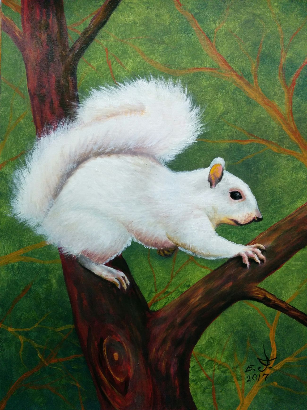 "Eastern gray Squirrel a very cute friendly animal ,oil on canvas 16""_20"" . Nature Fredom Portrait My Animal Collection Original Art My Art Collection Animals In The Wild Scenics Beauty In Nature One Animal ArtWork Art, Drawing, Creativity Oil Painting Fine Art Drawing Art My Portrait Collection Beauty My Best Friends ❤ Love♥ Friendship. ♡   Wildlife & Nature with my best friends"