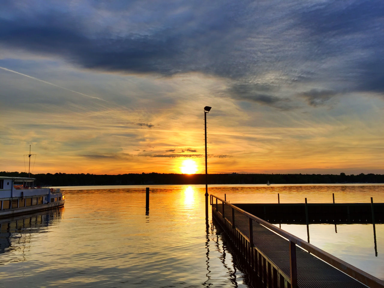 sunset, water, sky, built structure, nature, beauty in nature, no people, outdoors, scenics, cloud - sky, architecture, day