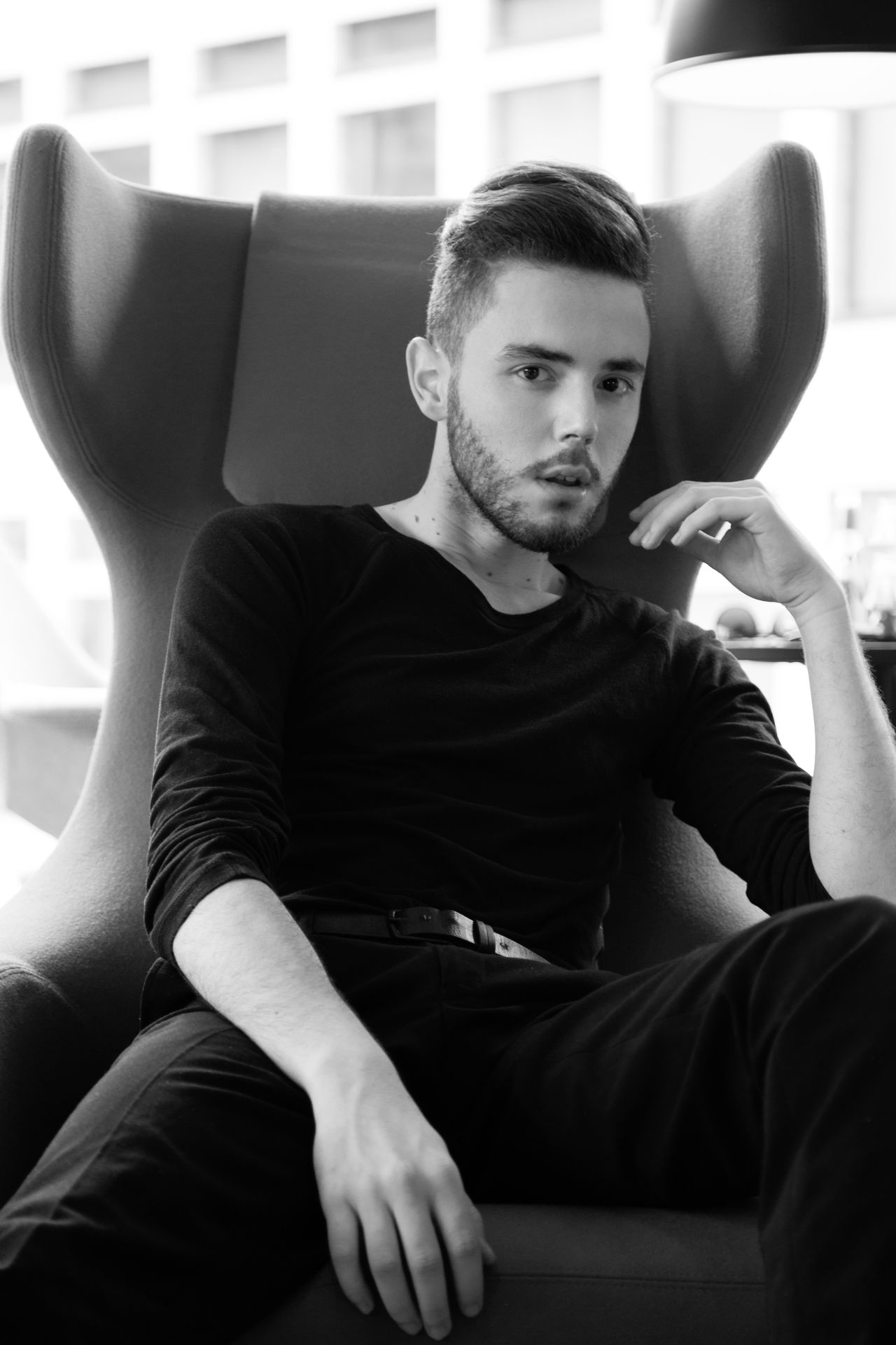 Casual Clothing Chair Chill Day Home Interior Indoors  Looking At Camera One Person Portrait Real People Relaxation Seat Sitting Sofa Young Men